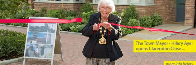 Clarendon Close Opened by Town Mayor