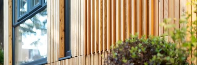 Cedar Apartments – Cladding feature