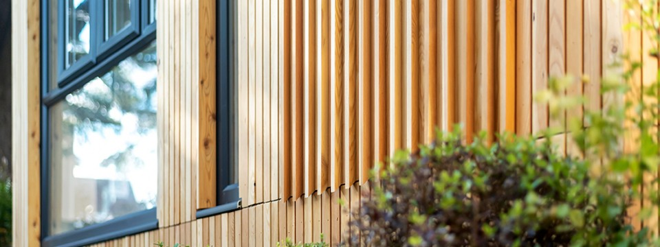 Cedar Apartments – Cladding feature